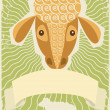Sheep poster - Stock Photo