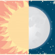 Sun and moon symbol. — Stock Photo