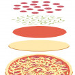 Pizza. - Stock Photo