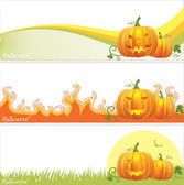 Halloween banners — Stock Photo