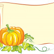 Vector Halloween background on white. — Stock Photo