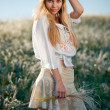 Young girl in field — Stock Photo #2756039