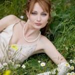 Bride on grass — Stock Photo #2756088