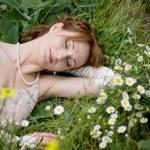 Bride on grass — Stock Photo #2756094