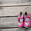 Kid girl shoes - Stock Photo