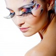 Painted beautiful face — Stock Photo