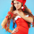 Stock Photo: Sexy mrs. Santa