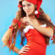 sexy mrs. santa — Stockfoto