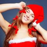 alegre Mamãe Noel — Foto Stock