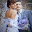 Bride and groom — Stockfoto