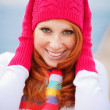 Cute winter girl — Stock fotografie