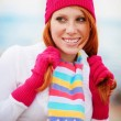 Cute winter girl — Stock Photo