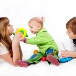 spelen broer en zusters — Stockfoto