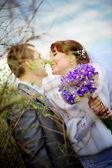Casal de noivos — Foto Stock