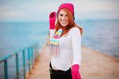 Fashion winter girl — Stock Photo