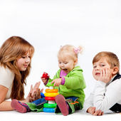 Playing brother and sisters — Foto de Stock