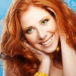 Beautiful redheaded girl — Stock Photo