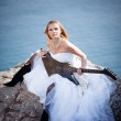 Bride with guitar — Stock Photo #2766928