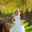 Bride in forest — Stock Photo #2767146