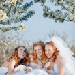 Happy brides — Stock Photo