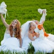 Young brides — Stock Photo