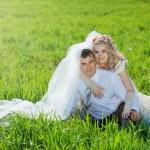 Loving wedding couple — Stock Photo
