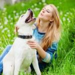Girl with labrador — Stock Photo #2768343