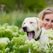 Girl with labrador — Stock Photo #2768468