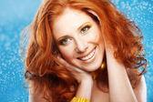 Beautiful redheaded girl — Stock Photo