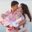 Young parents with children — 图库照片 #2770464