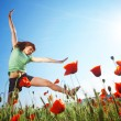 Jumping girl — Stock Photo #2770568