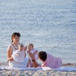 Stock Photo: Family on beach