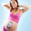 Royalty-Free Stock Photo: Happy pregnant female