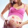 Royalty-Free Stock Photo: Happy pregnant woman