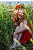Floral nimf — Stockfoto