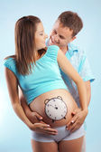 Time to birth — Stock Photo