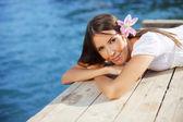 Summer beautiful female — Stock Photo