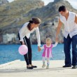 Parents with child — Stock Photo
