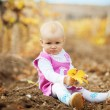 Child in autumn — Stockfoto