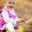 Child in autumn — Stok fotoğraf #2780399