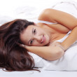 Cute woman in bed — Stock Photo #2783358