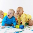 Stock Photo: Babies painting