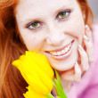 Girl with flowers — Stock Photo #2787003