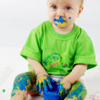 Baby painter — Stock Photo