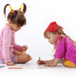 Stock Photo: kids drawing