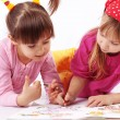 Kids drawing - Foto de Stock