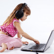 Child with computer — Stock Photo