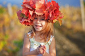 Child in autumn — Stock fotografie