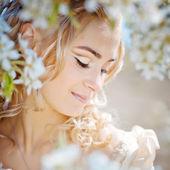 Retrato de novia de primavera — Foto de Stock