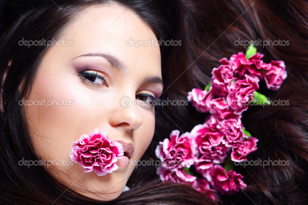 Close-up portrait of beautiful face  Stock Photo #2788018